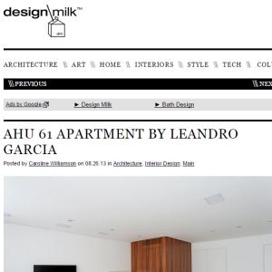 Design Milk, Ago. 2013